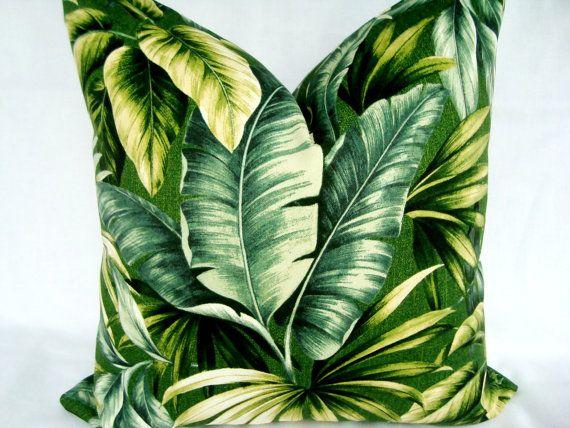 Tropical Palm Leaves Decorative Designer Green Printed