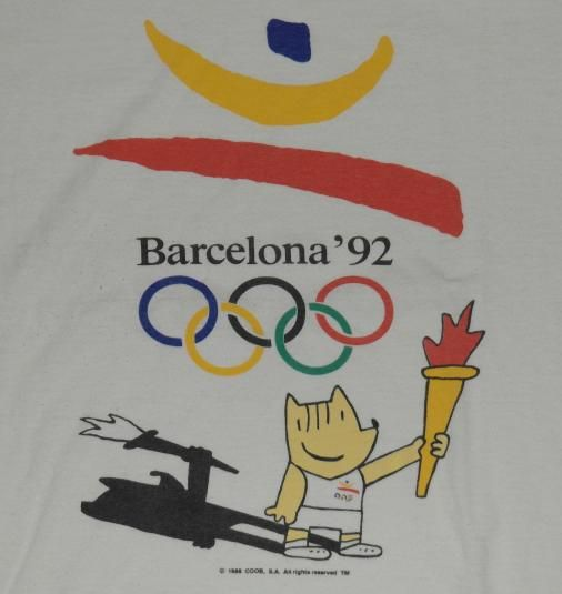 Vintage 1992 Barcelona Olympic T-Shirt. Unique graphic from the United States Olympic Training Center