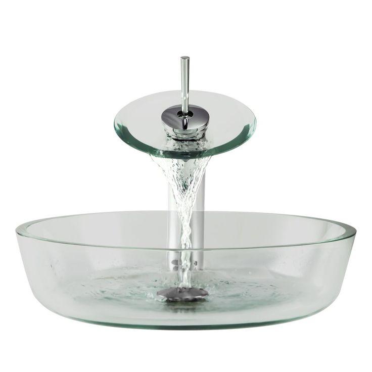 Nice The Polaris Sinks P526 Chrome Bathroom Ensemble (Glass Ensemble), Silver,  Size 16