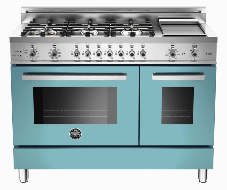 the latest in kitchen technology, the modern Bertazzoni Oven Range in blue