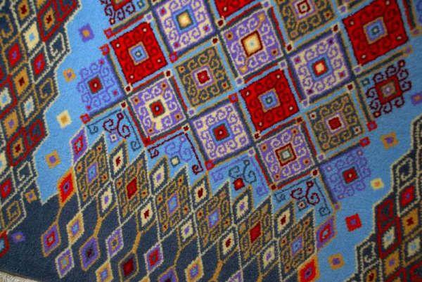 Tapetes de temoaya expres n aut ntica del arte otom Alfombras persas en mexico