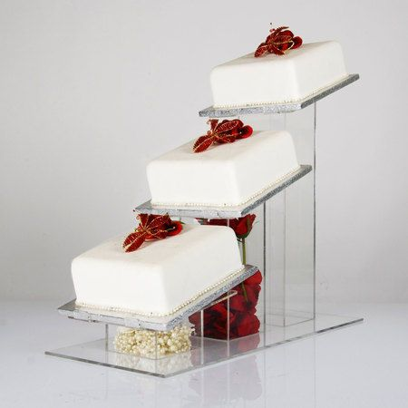 3 tier square wedding cake stands 17 best ideas about acrylic cake stands on 10265