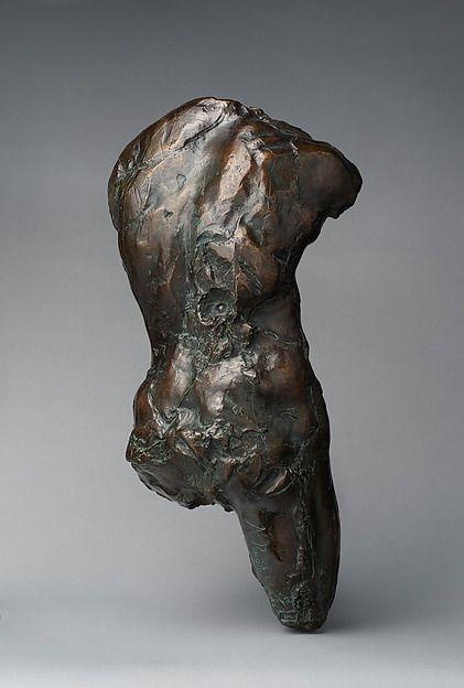 Torso, Auguste Rodin (French, Paris 1840–1917 Meudon), Bronze, marble base, French