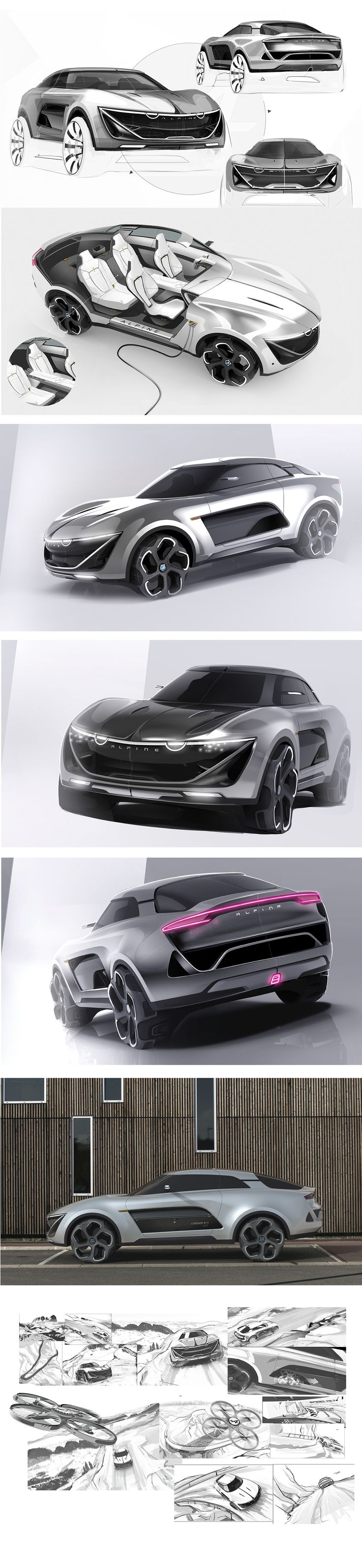 Alpine SUV 2025 on Behance