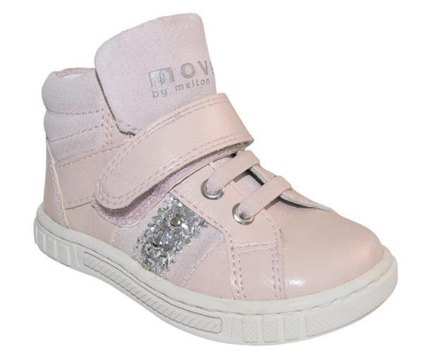 Melton - Basketstøvle - Støvet lyserød