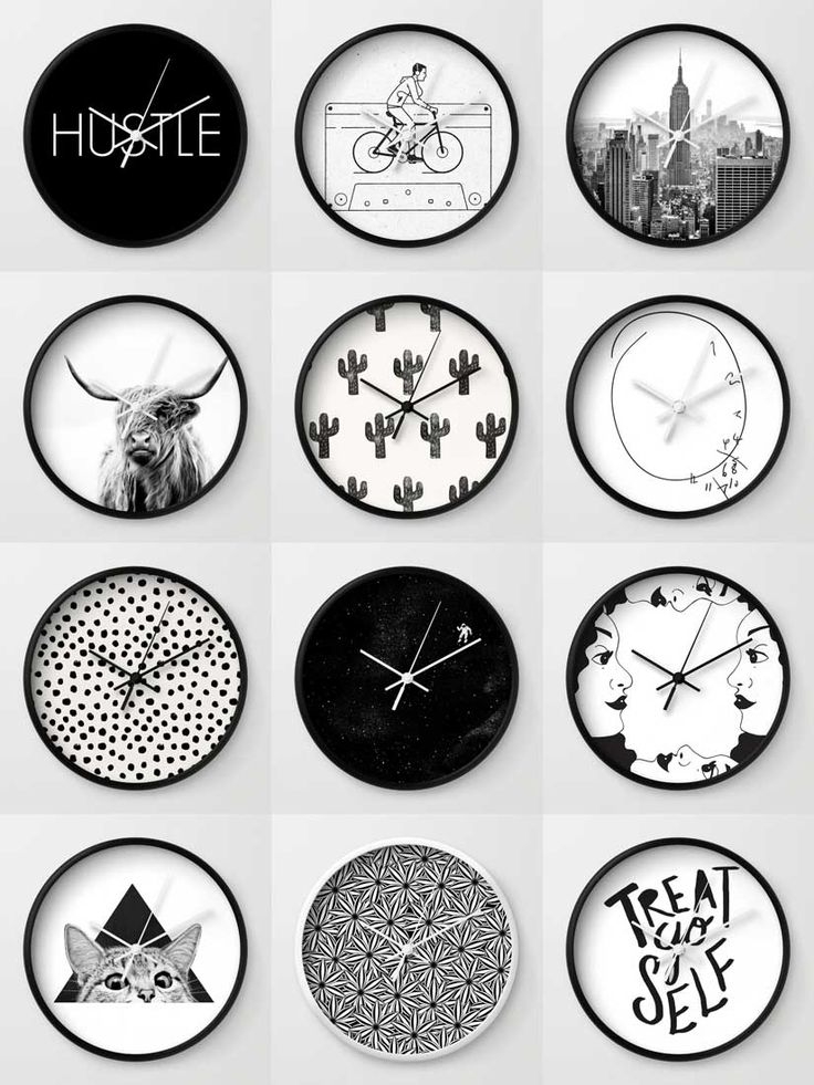 Society6 Black & White Clocks - Society6 is home to hundreds of thousands of artists from around the globe, uploading and selling their original works as 30+ premium consumer goods from Art Prints to Throw Blankets. They create, we produce and fulfill, and every purchase pays an artist.