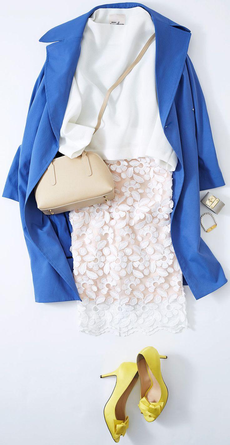 白を着る日の細見えテクニックは? ルミネ新宿のアイテムから、春のウキウキ感をいち早く楽しめる、草花モチーフを取り入れたコーディネートをご紹介! 人気スタイリスト田沼智美さんがシンプルでかわいいをテーマに、毎日のコーディネートに役立つアドバイスをお伝えします。