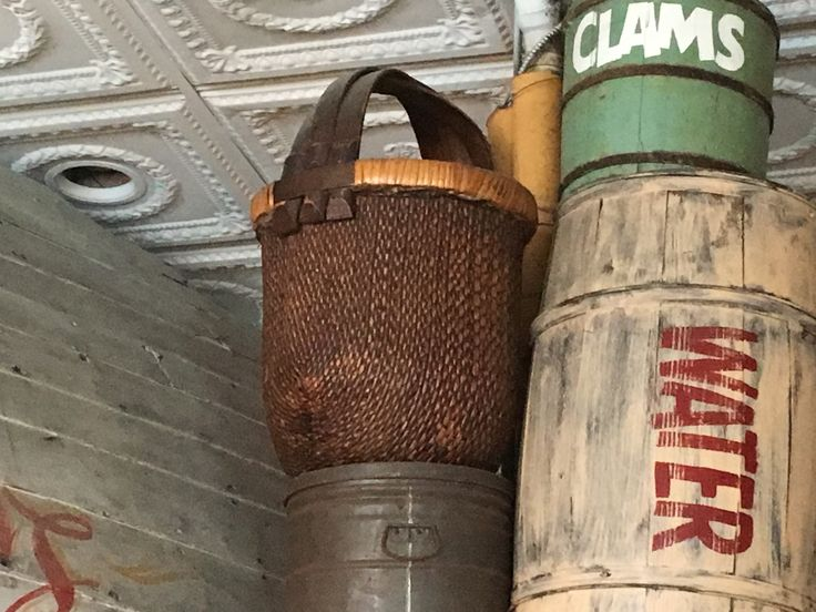 Antique basket at The Noisy Oyster-Charleston sc