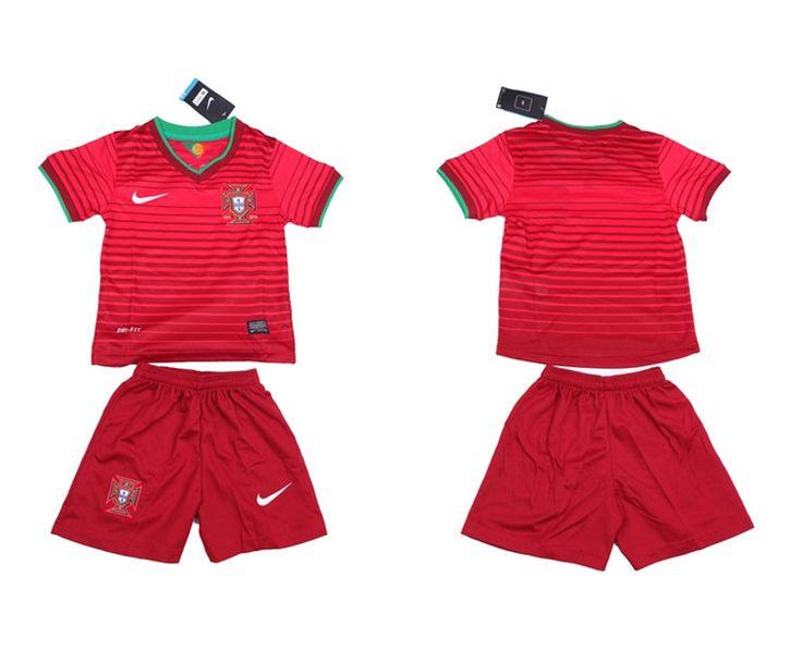 Portogallo Maglie Calcio Mondiali 2014 Bambini Set Casa