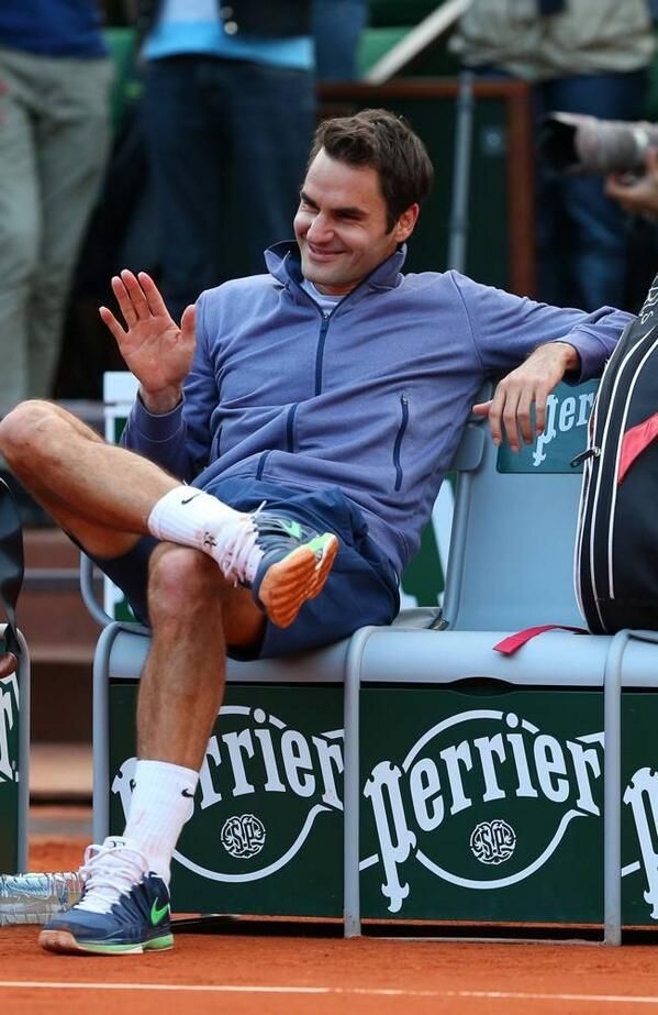 Twitter / Sofia__RF: Look at him! Boss Federer! ...