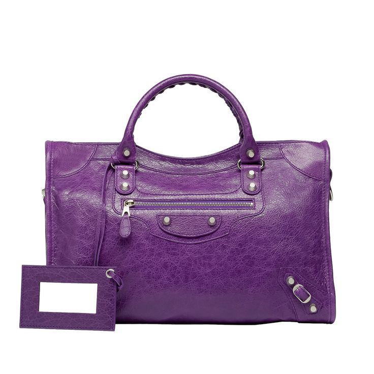 Balenciaga, Giant 12 City satchel, Ultraviolet