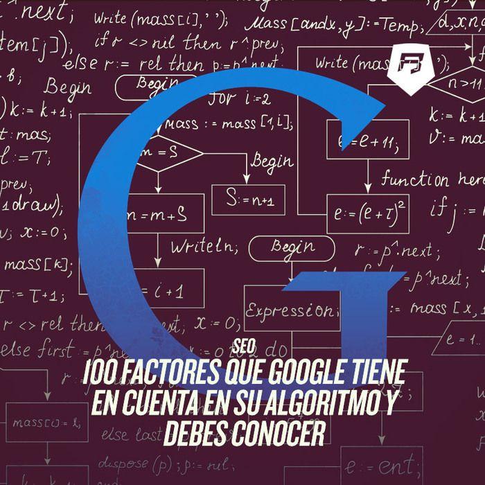 #SEO 100 factores que #Google tiene en cuenta en su algoritmo Aprende a posicionarte Aquí >>> http://seo-rebeldesonline.com/factores-que-influyen-en-el-posicionamiento-seo/