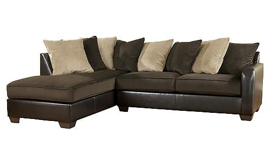 Gemini - Chocolate Sectional - I don't like the pillows but that can always be changed (: