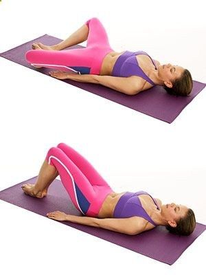The Butterfly Pose works your abs, pelvic floor and inner thighs. .