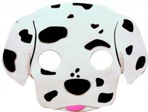 Careta perro dalmata de goma eva