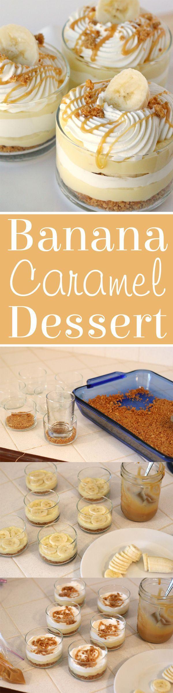 Simply the BEST dessert! Homemade pastry cream, fresh banana, caramel... SO GOOD!