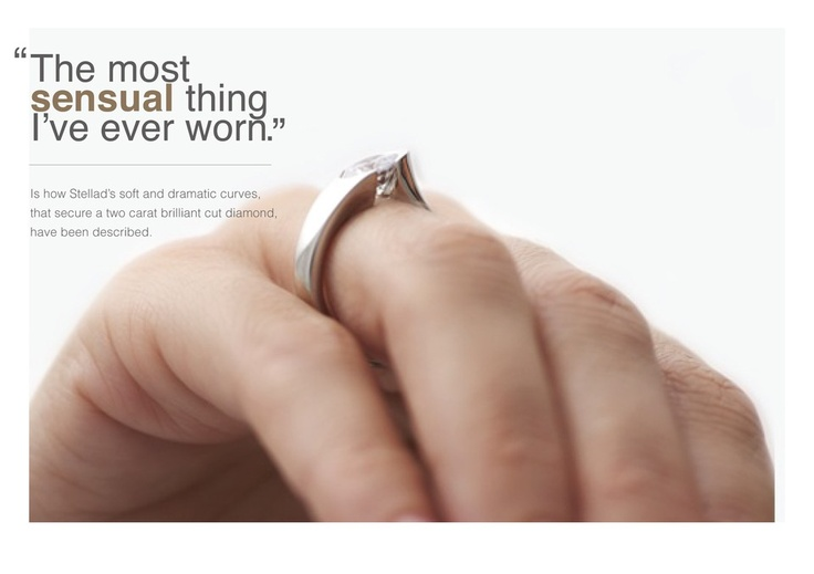 """""""The most sensual ring I've ever worn"""" Best Awards - The Inspired Collection.  Stellad - Diamond Ring"""