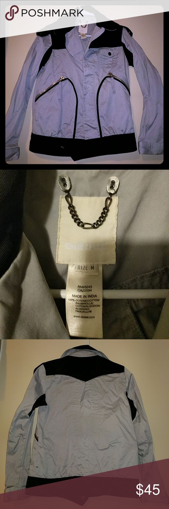 🛍️ SATURDAY SALE🛍️ DIESEL light jacket Grey and black jacket Diesel Jackets & Coats