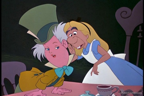 Alice in Wonderland switched faces. | Disney | Pinterest ...