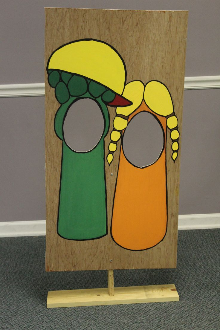 Veggie Tales Birthday Party Junior and Laura Face in the Hole Made by: Kevin and Rachel Berry Spontaneous Creations