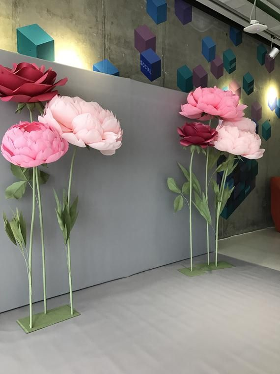 Large Paper Flowers Photo Wall Standing Paper Flowers Wedding