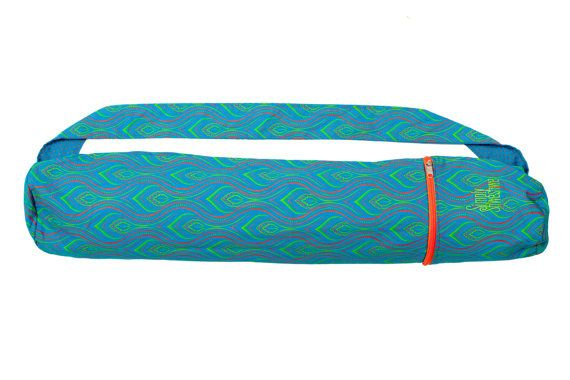 Torquoise Flame Shweshwe Yoga mat bag handcrafted from the beautiful Shweshwe…