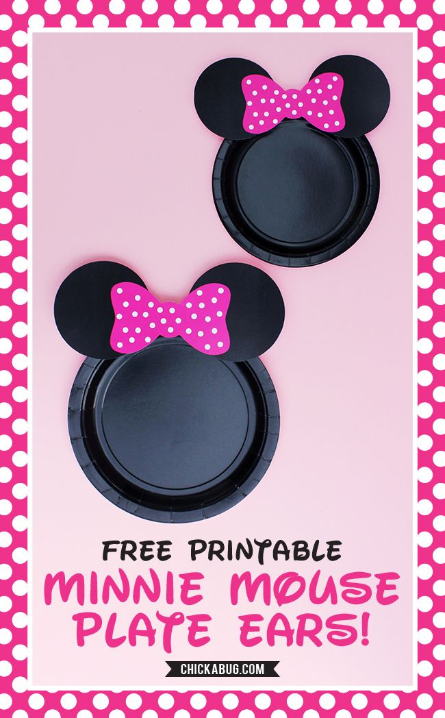 Free printable Minnie Mouse plate ears! #chickabug #freeprintable