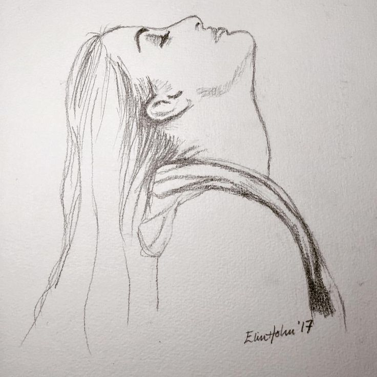 Early morning -portrait (pencildrawing)
