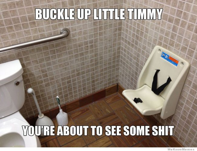 This reminds me of that South Park episode where they have to wear seatbelts on the toilet.
