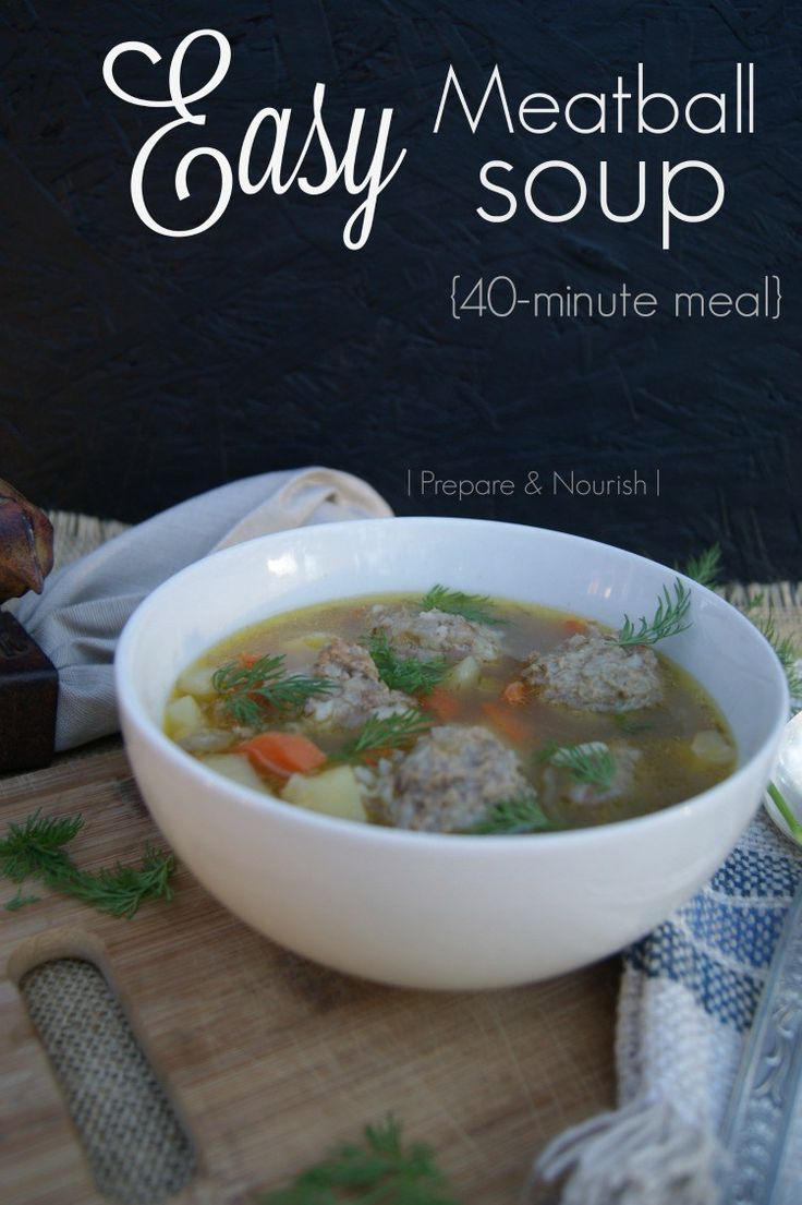 Easy Meatball Soup - Featured on the Homestead Blog Hop