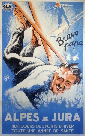 Alpes & Jura - 1935 - illustration de Coulon - France -