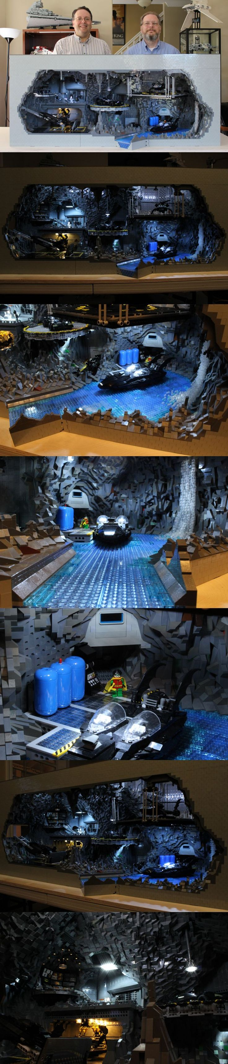 Epic LEGO Batcave Created Out Of 20,000 LEGO Pieces #PinYourResolution