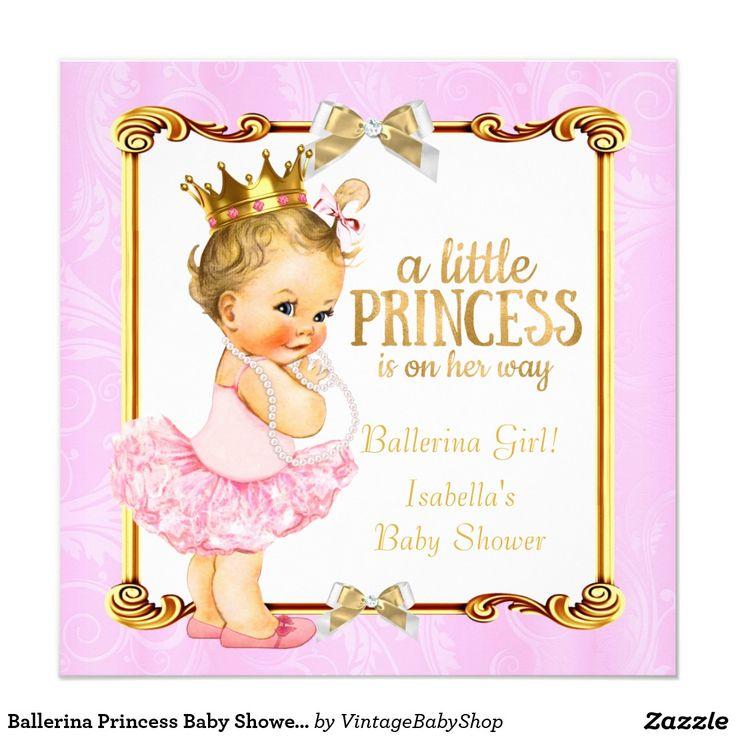32 besten ballerina tutu baby shower bilder auf pinterest, Einladung