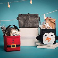 Treat-stuffed holiday Littles stand in for stockings and make adorable teacher gifts!