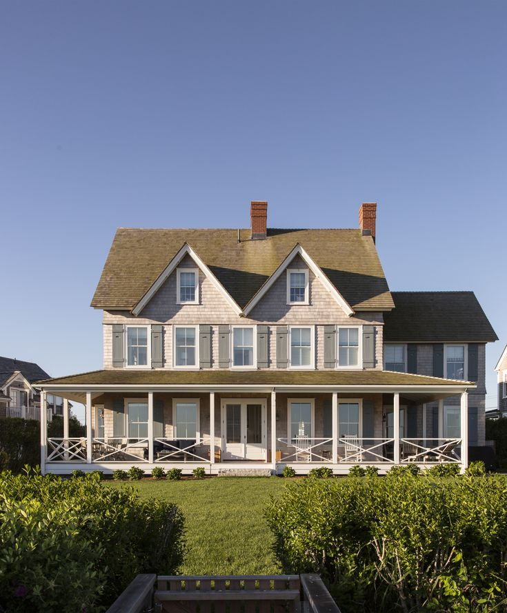 Best Beautiful Shingle Style Beach House With Wrap Around Porch Slc Interiors Shingle Style Homes 400 x 300