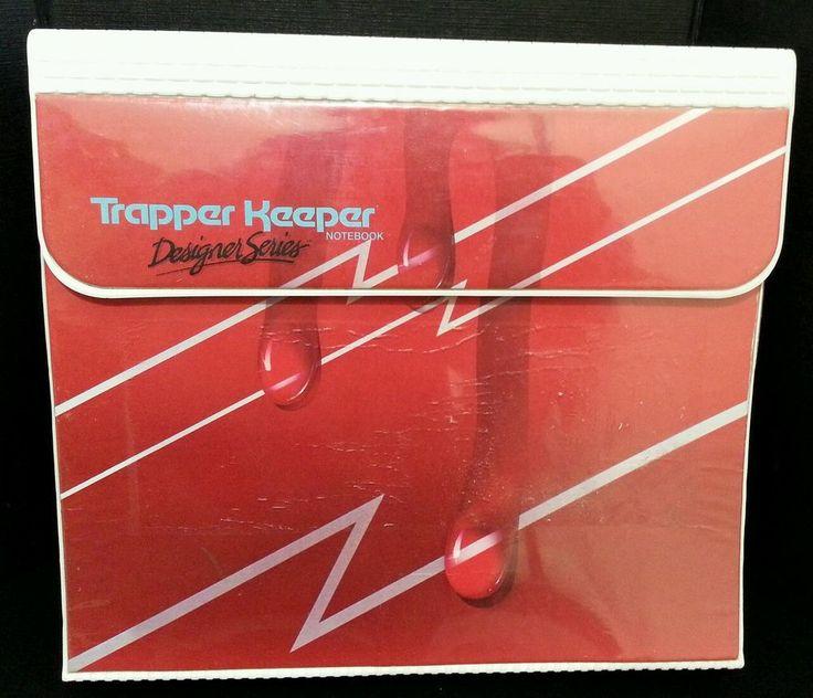 Vintage Trapper Keeper Designer Series Red Drip Mead Binder Notebook Folders