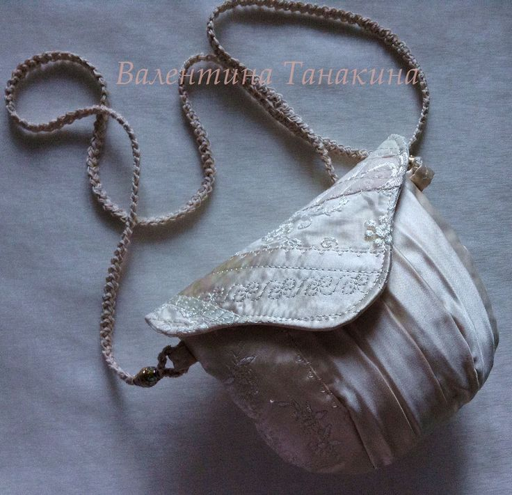 свадебная сумочка из шелка