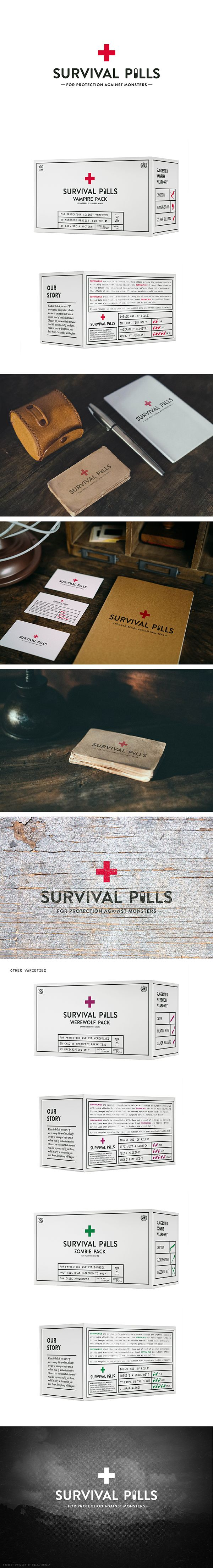Survival Pills Packaging Concept on Behance.