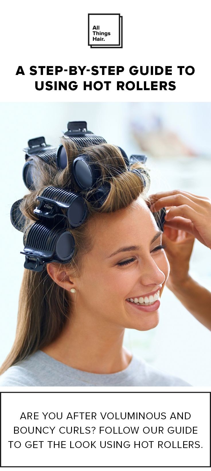 Hot rollers are great for giving you big, bouncy and beautiful hair! Read our full step-by-step guide and you could be flaunting luscious curls this weekend! #ad