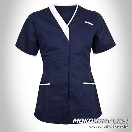 SERAGAM PERAWAT, MEDIS & PAKAIAN RUMAH SAKIT. Baju Tunik Seragam Perawat Warna Navy & Putih.