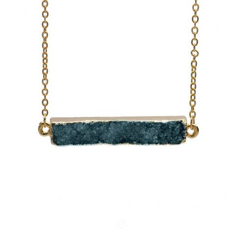 Jagged Crystal Bar Necklace
