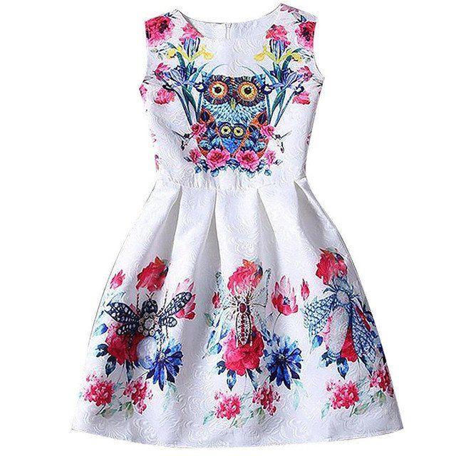"""Vestidos """"Ai Meng"""" Moda Verão ( de 6 a 12 anos)"""