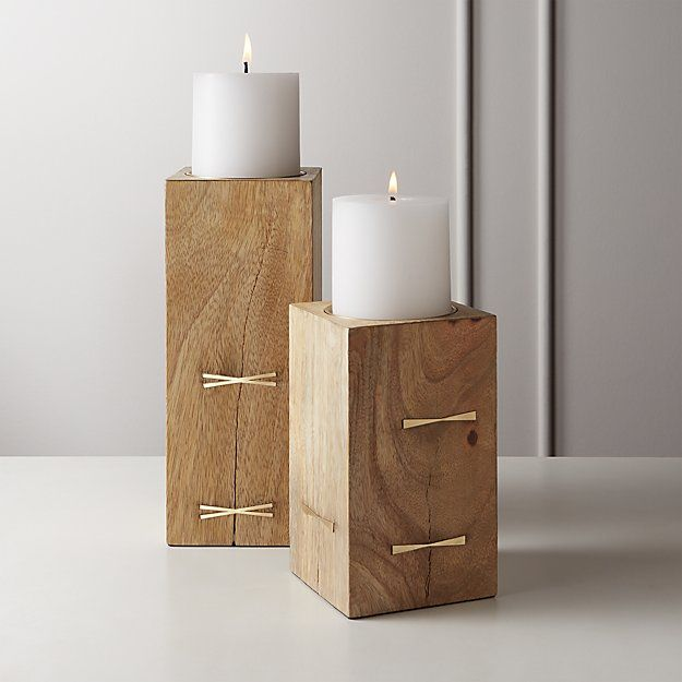 Bowtie Wood Pillar Candle Holders Candle Holders Large Candle Holders Wood Pillar Candle Holders