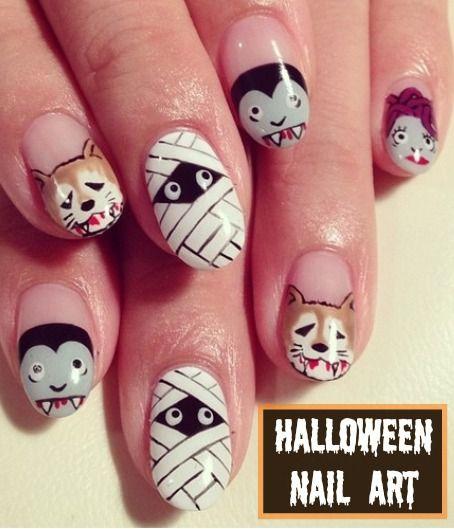Halloween Nail Art Designs Gallery: 323 Best Halloween Nails Images On Pinterest