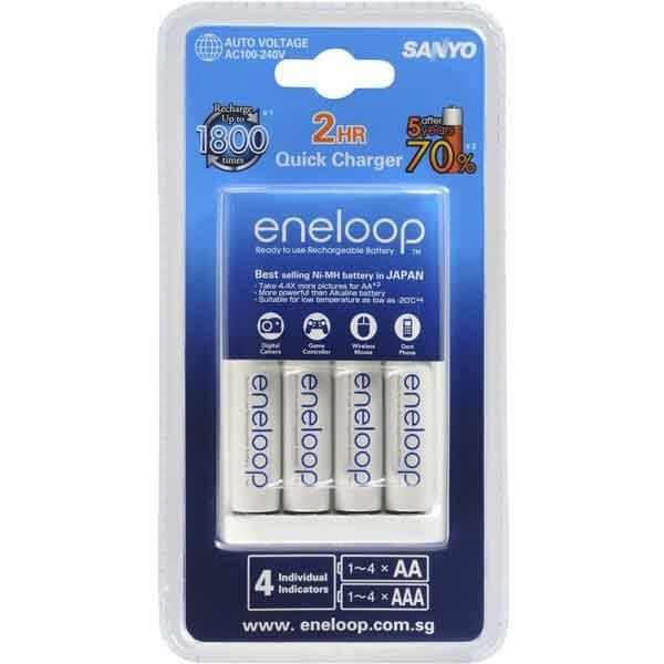 #Sale was 58.58 $34.99 Sanyo AA #Eneloop Fast Battery Charger with 4 AA Batteries