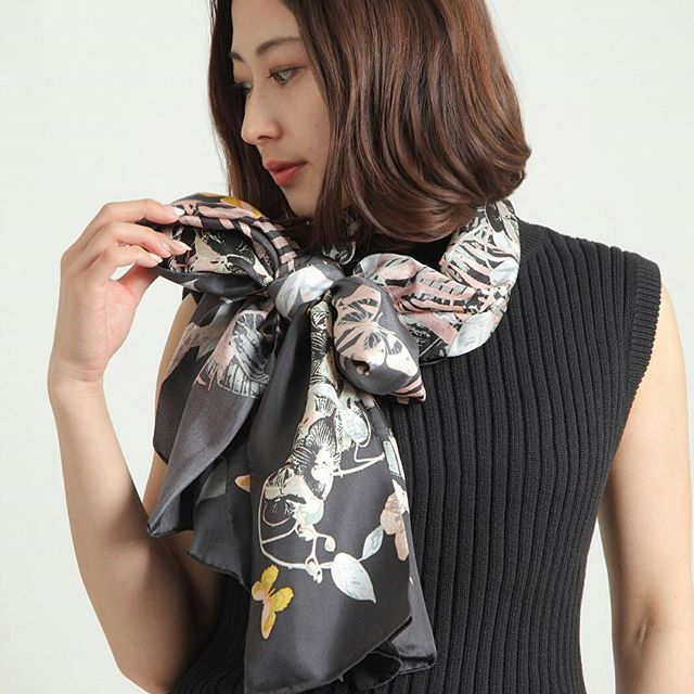 Silk scarf worn by one of our Japanese friends