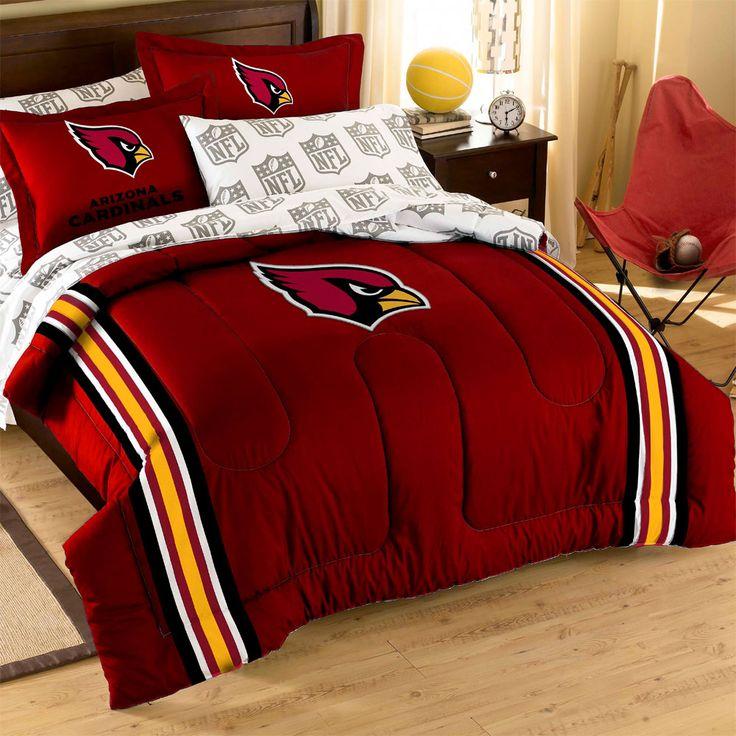 Arizona Cardinals Logo Football Twin-Full Bed Comforter Set