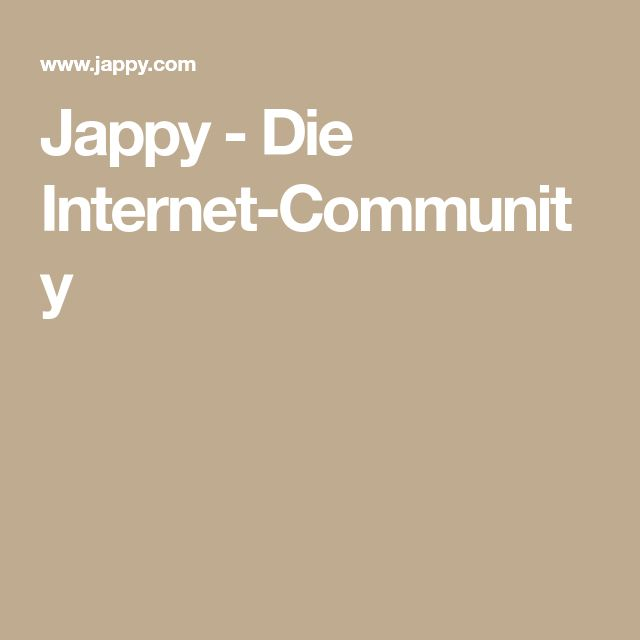 Jappy - Die Internet-Community