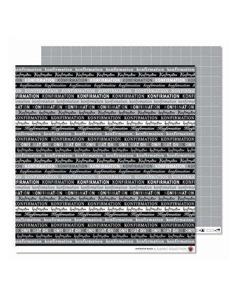 Designark/scrapbookingark, Konfirmation Sort