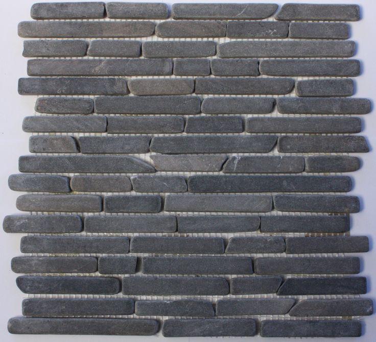 Tumbled Grey Marble Mosaic tile